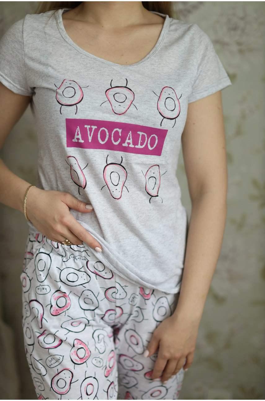 Пижама Авокадо (футболка и брюки)