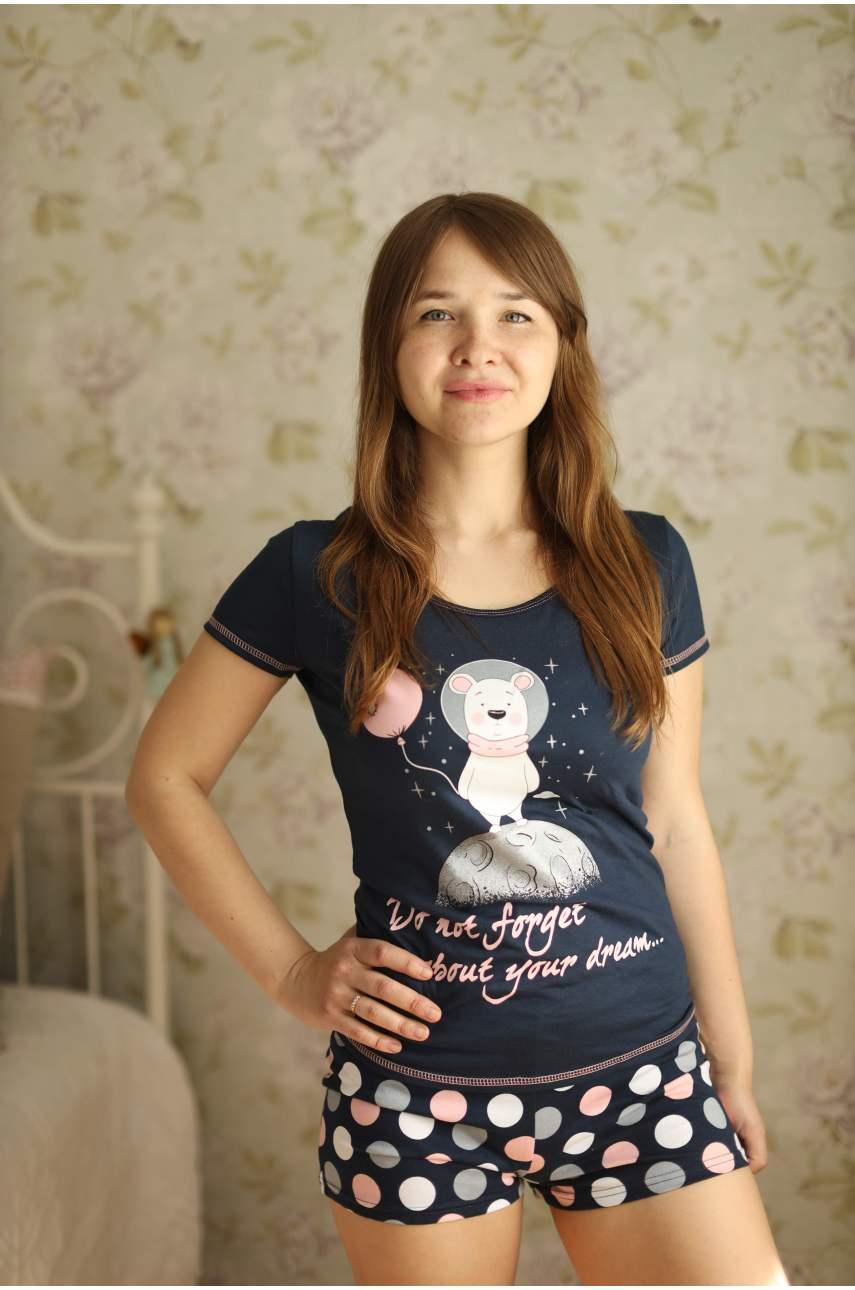 Пижама Космос (футболка и шорты)