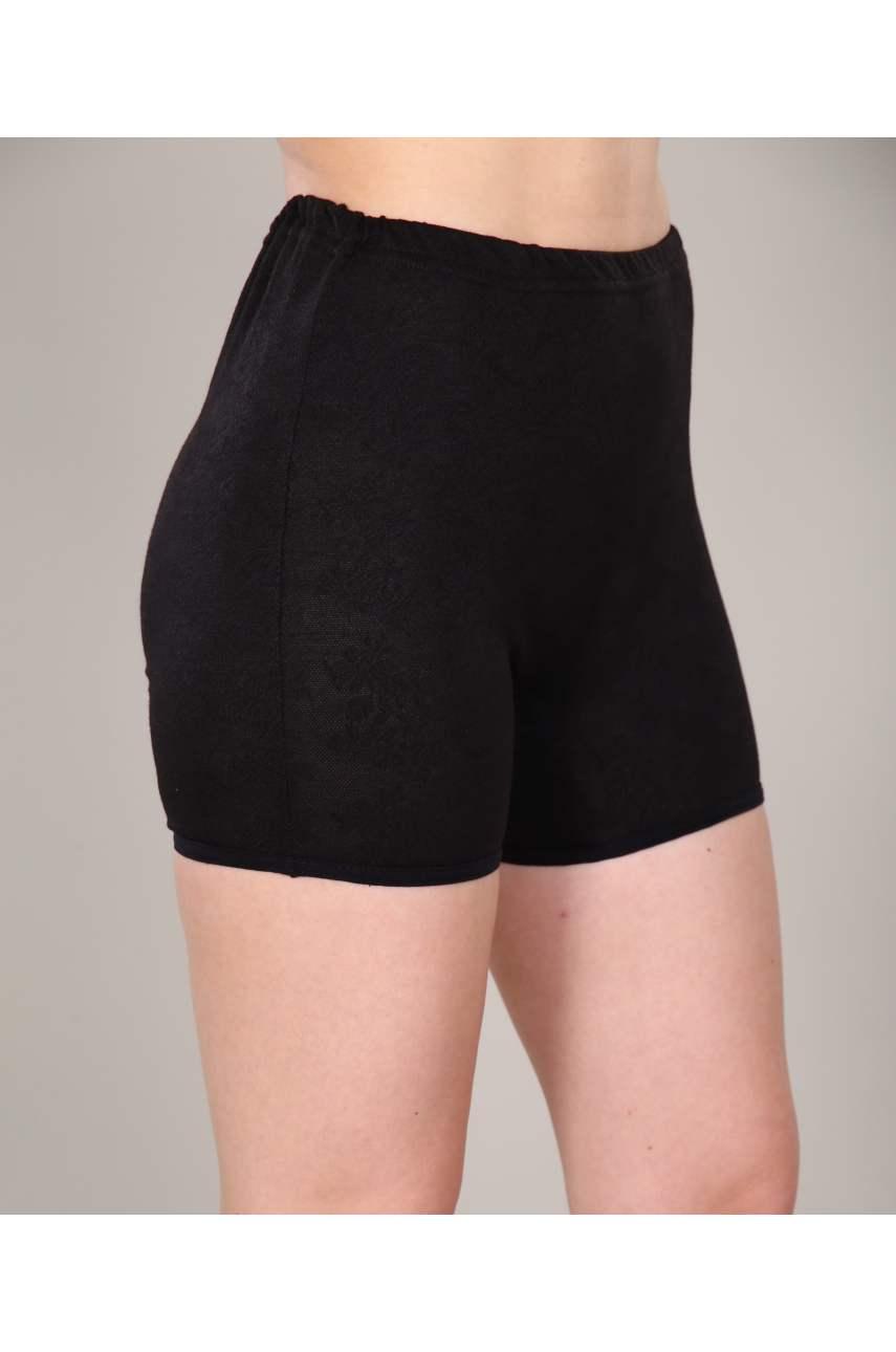 Панталоны укороченные черные Ажур