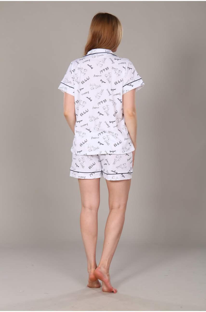 """Пижама """"Классика буквы"""" (шорты)"""