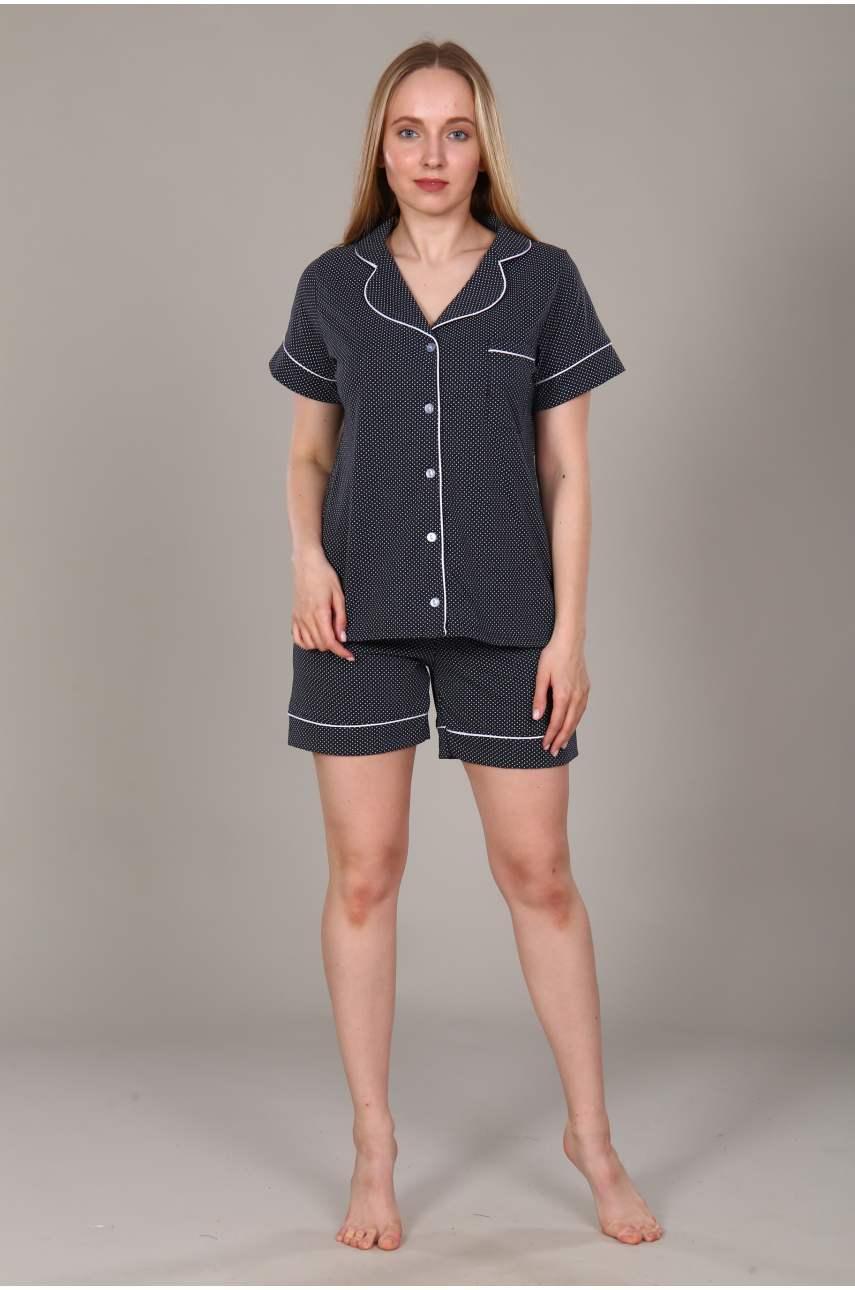 """Пижама """"Классика горох"""" (шорты)"""